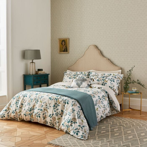 Andhara Teal & Cream Floral Bedding