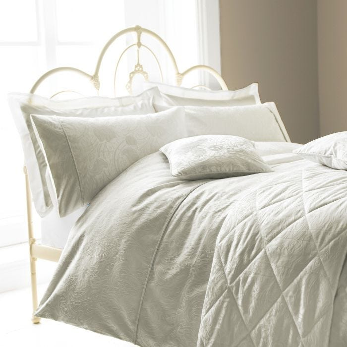 Ashbee Quilted Throw Double Silver