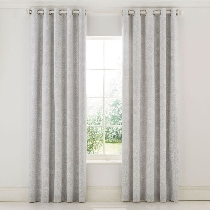 Chiswick Glove Silver Curtains