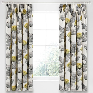 Dandelion Clocks Lined Curtains