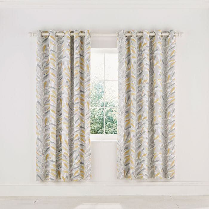 Sea Kelp Ochre Lined Curtains
