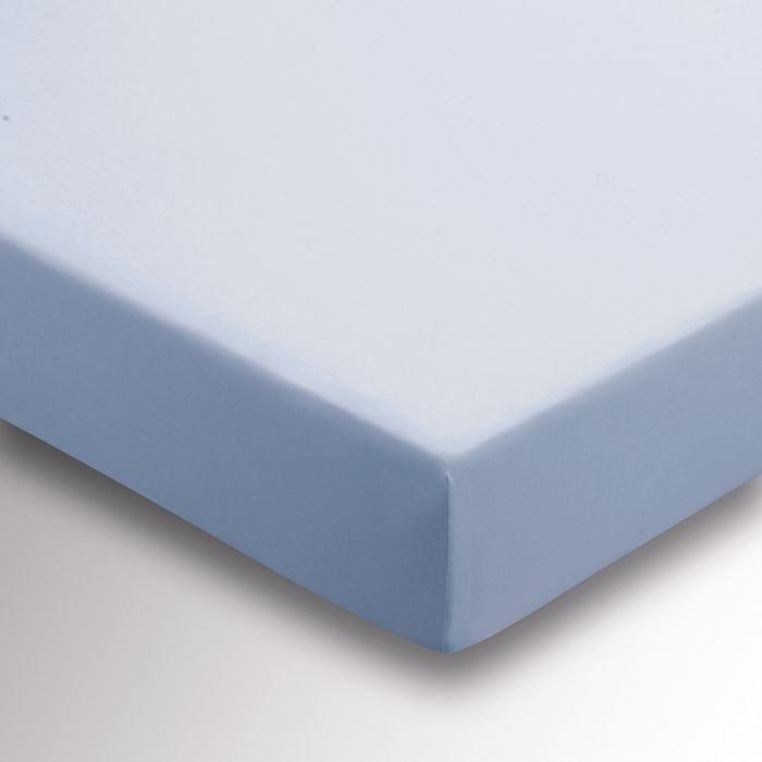 220 Thread Count Plain Dye Dove Blue Fitted Sheet