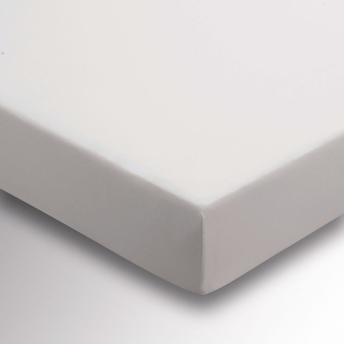 220 Thread Count Plain Dye Pebble Fitted Sheet