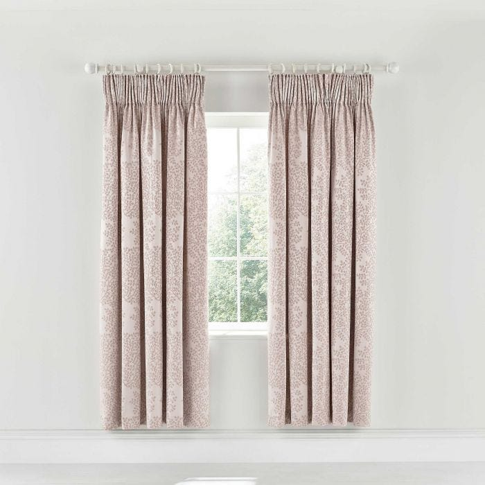 Lindos Lined Curtains Rose