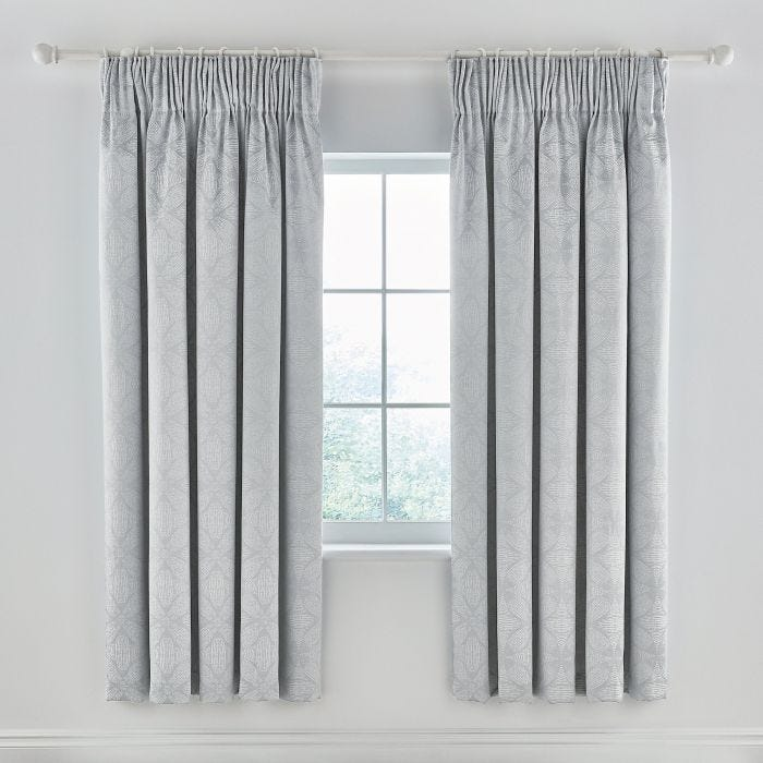 Sycamore Mist Blue Lined Curtains.