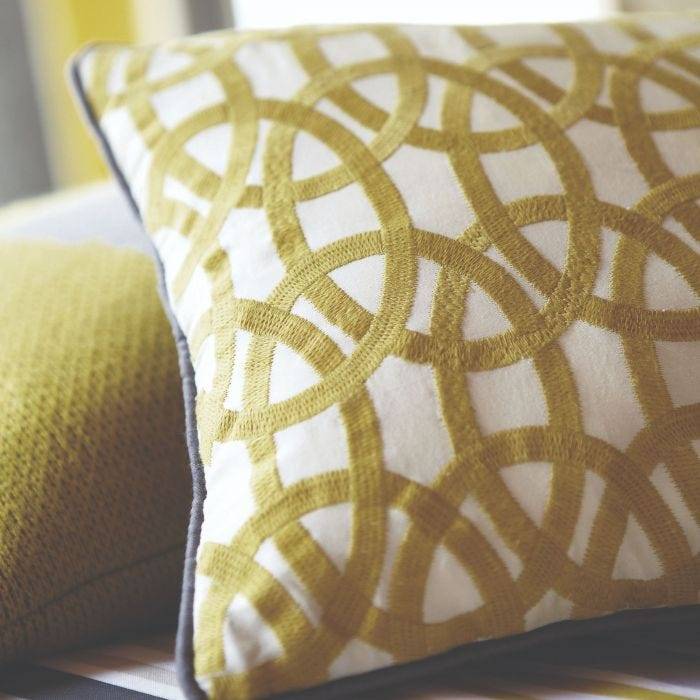 Lace Motif Embroidered Cushion