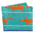 Mr Fox Turquoise Beach Towel Folded