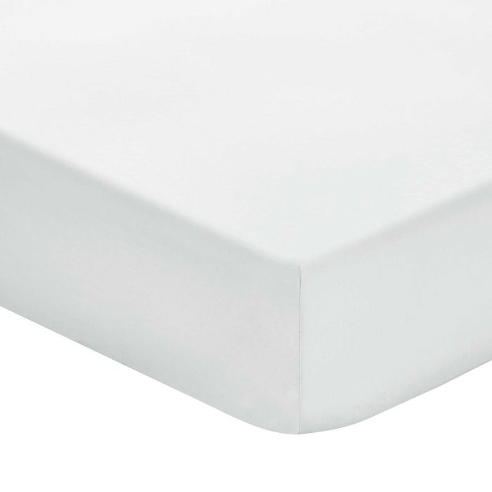Plain Silver Double Fitted Sheets