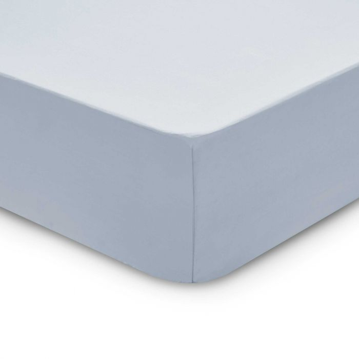 Bedeck 1951 200 Thread Count, Kingsize Fitted Sheet, Sky
