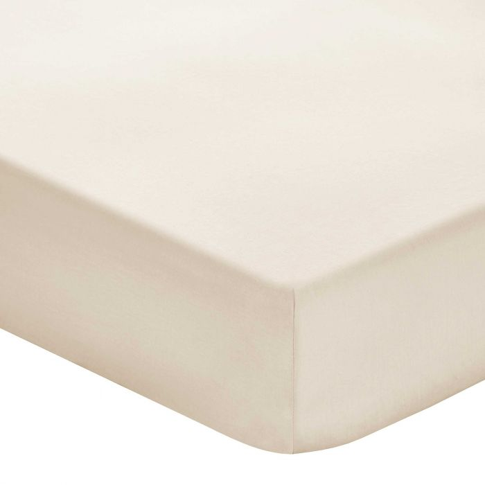 Plain Stone Double Fitted Sheets
