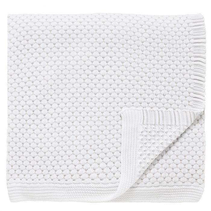 Talcy White Honeycomb Knitted Throw