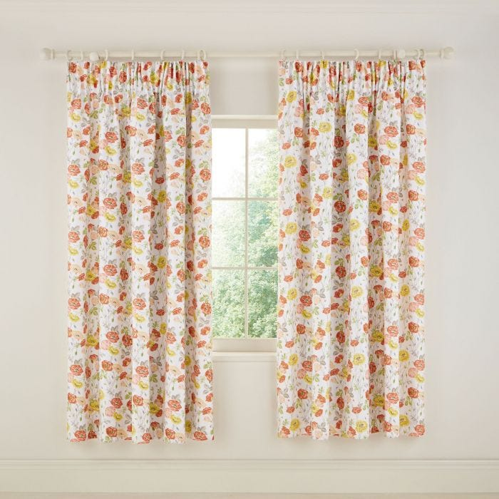 Poppy Garden Multi Lined Curtains