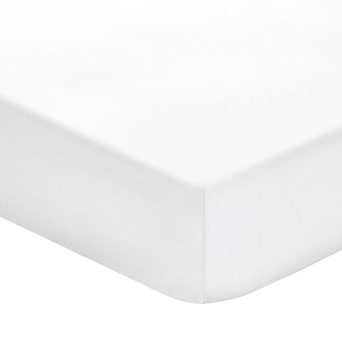 Plain White Double Fitted Sheets