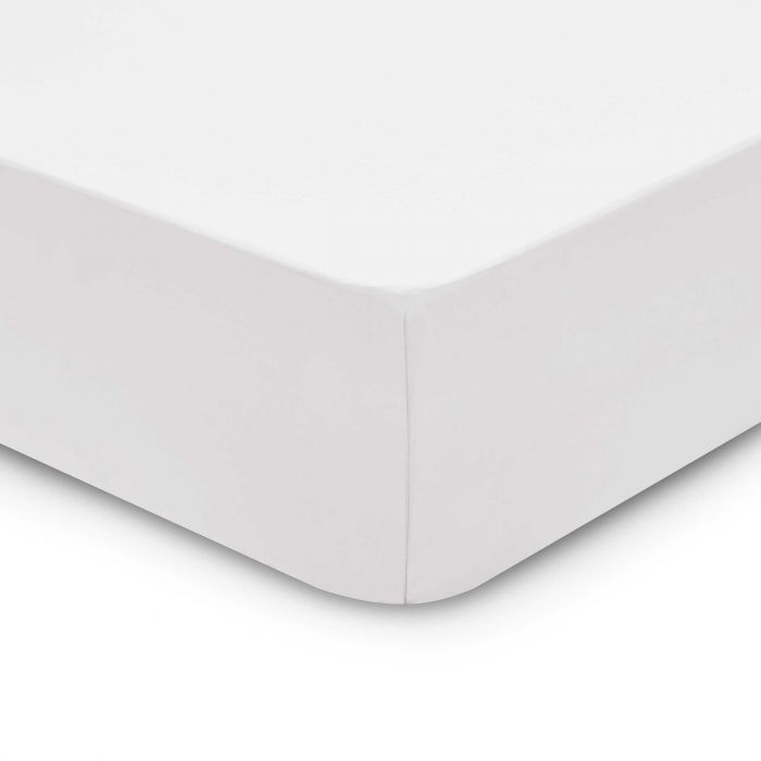 Bedeck 1951 200 Thread Count, Single Fitted Sheet, White