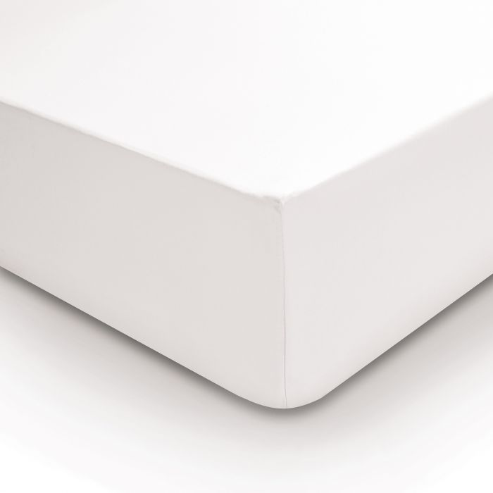 Bedeck 400 Thread Count, Single Fitted Sheet, White