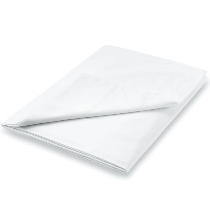 600TC Egyptian Cotton Double Flat Sheet, White
