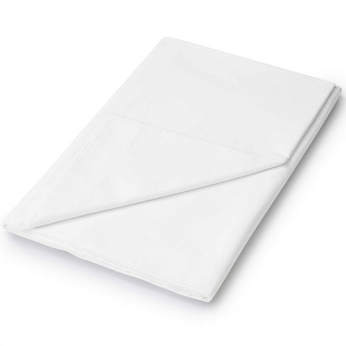 White Flat Double Bed Sheets
