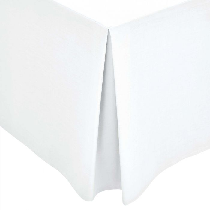 White Plain Dye Base Valance (Kingsize)