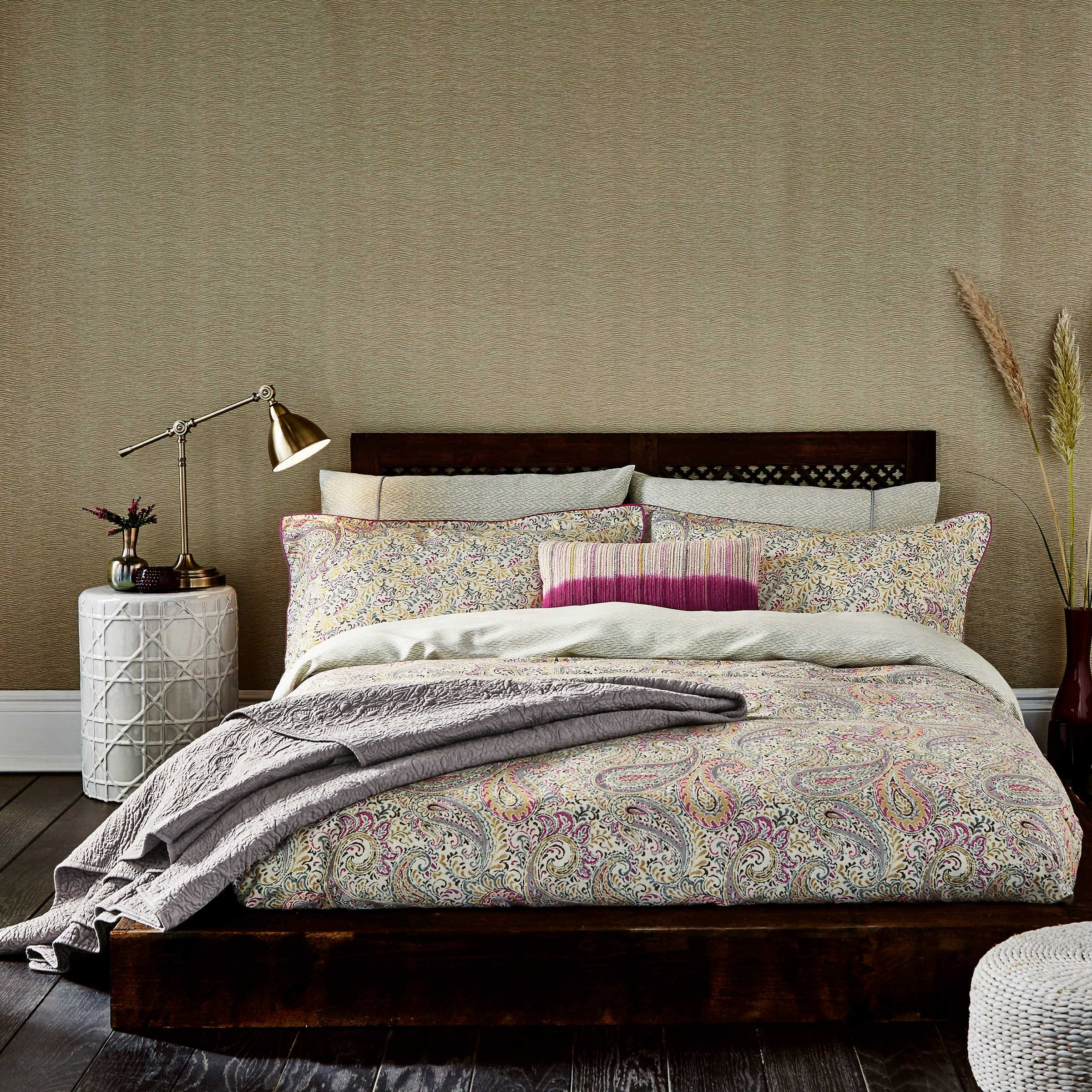 Bedeck 1951 Damara Bedding in Magenta