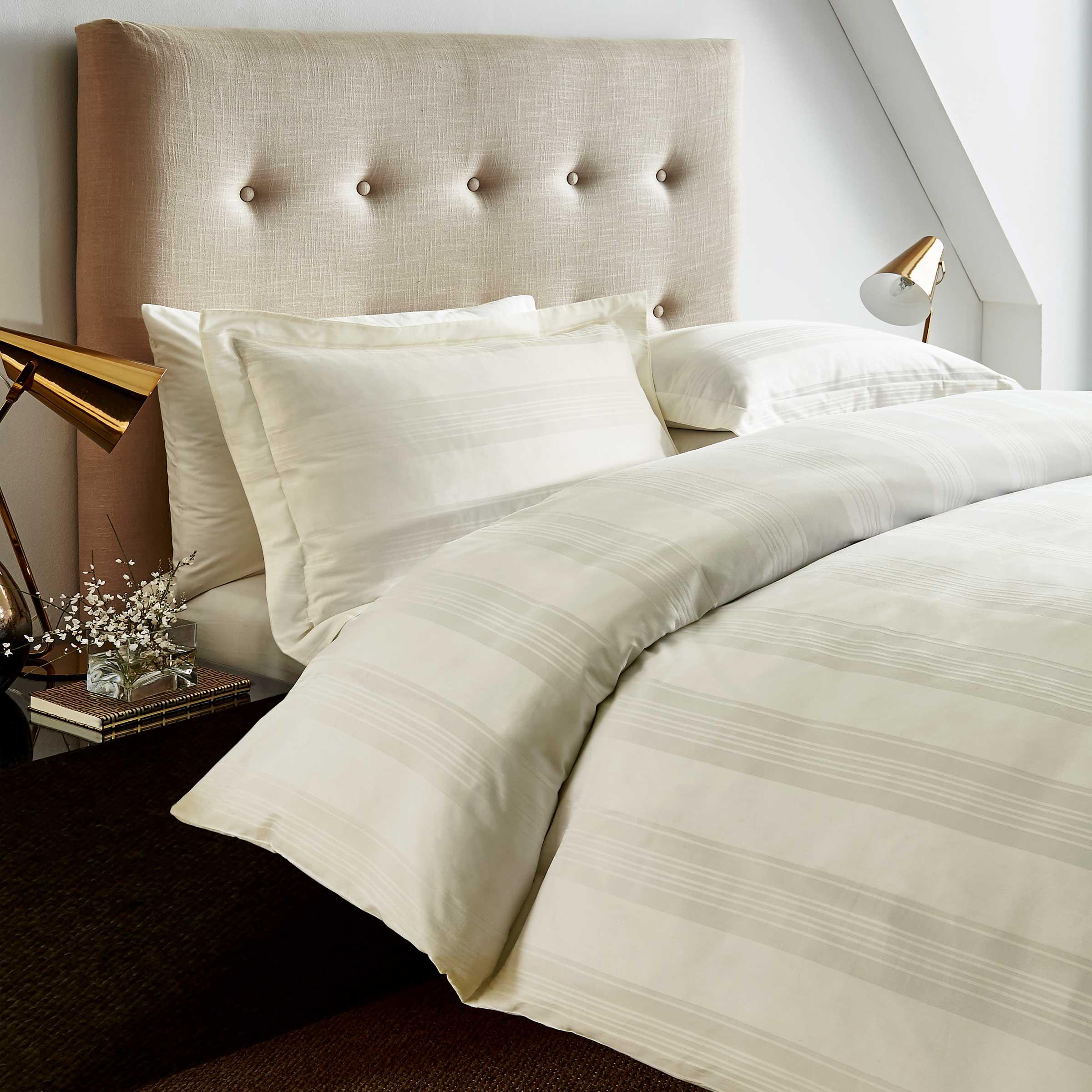 Hotel Bedding Empire Double Duvet Cover Ivory