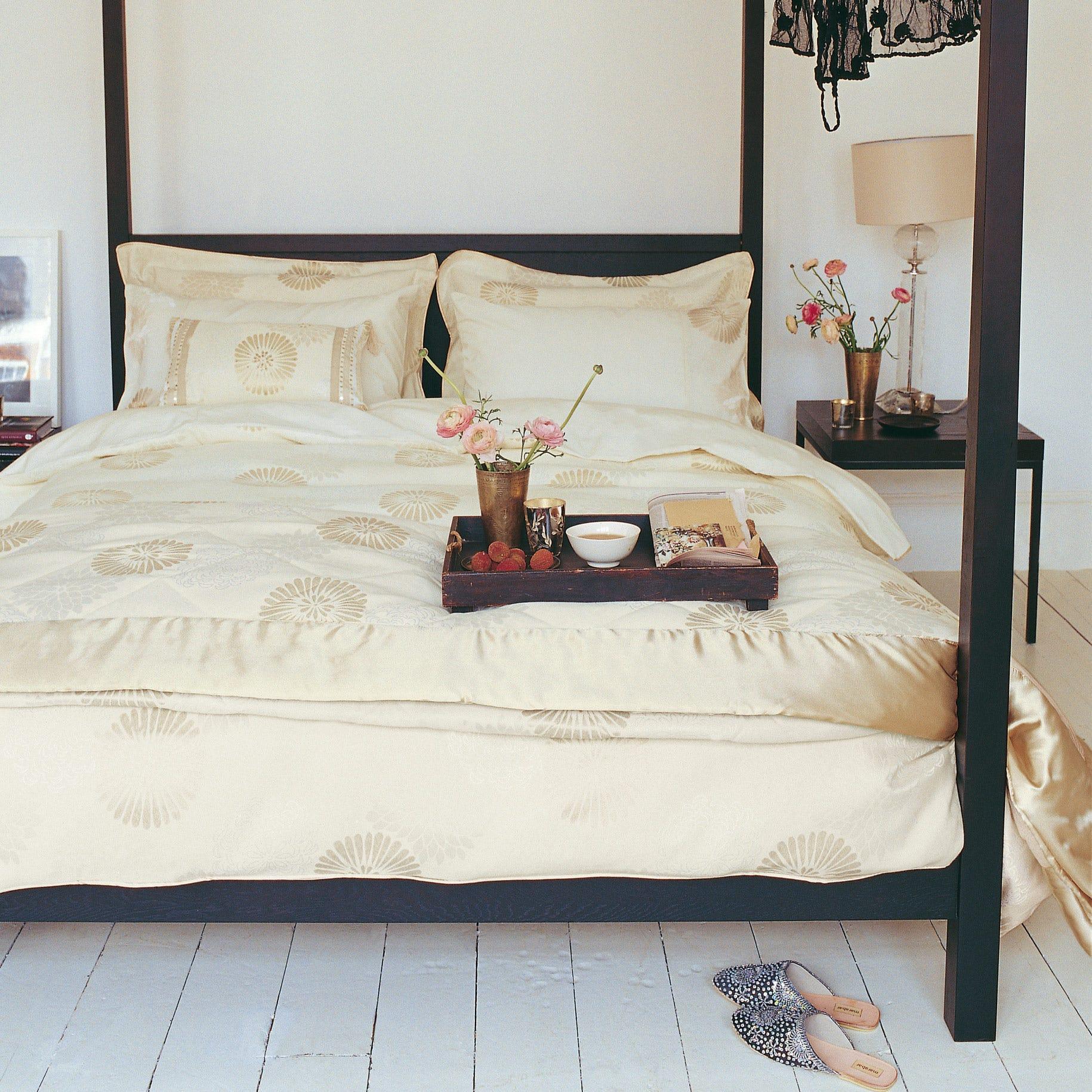 Bedeck Bedding Zen Quilted Bedspread Kingsize Cream
