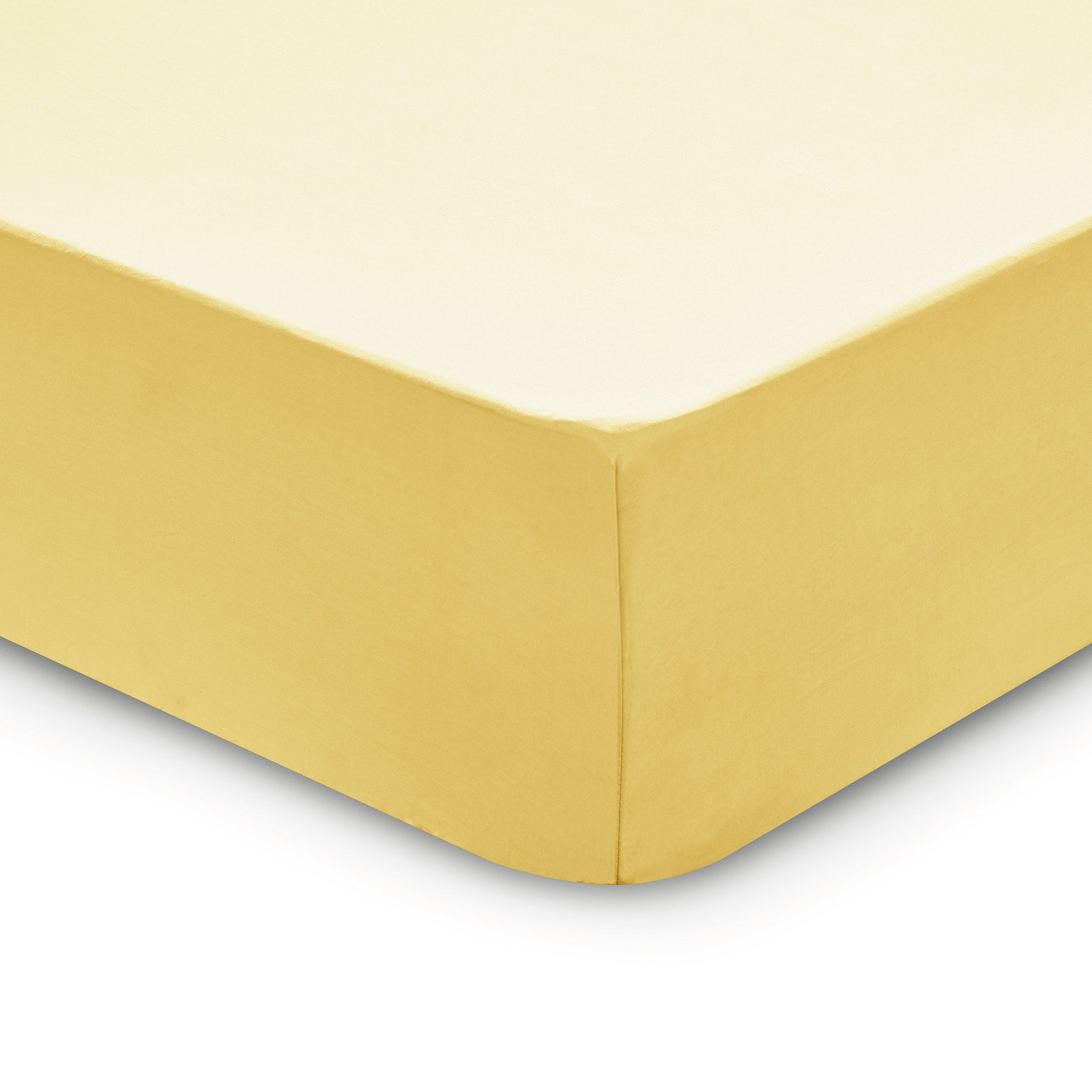 Bedeck 1951 200 Thread Count, Kingsize Fitted Sheet, Citrine