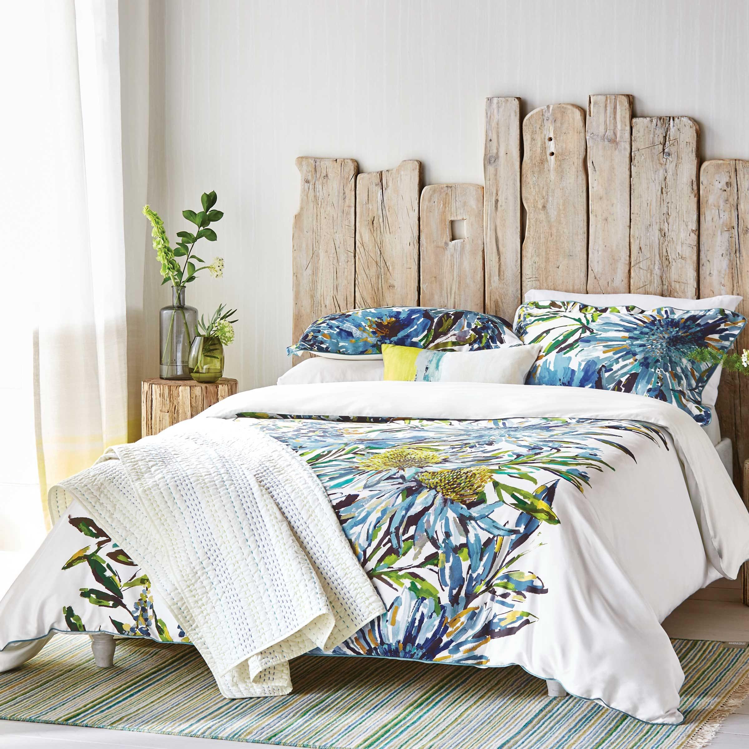 Harlequin Bedding Floreale Super Kingsize Duvet Cover ocean