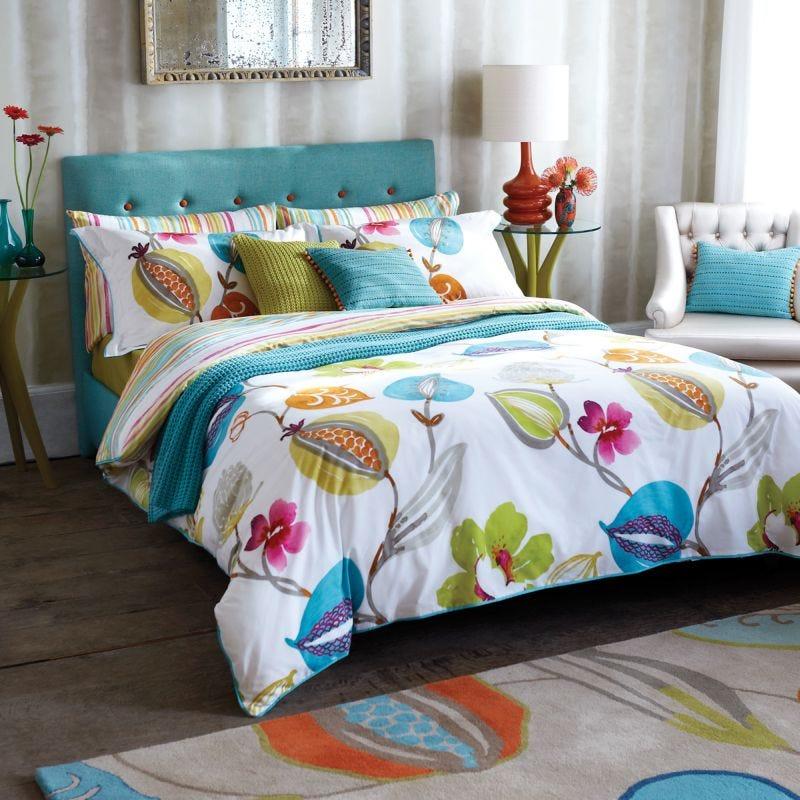 Harlequin Bed Linen Tembok Double Duvet Cover Turquoise