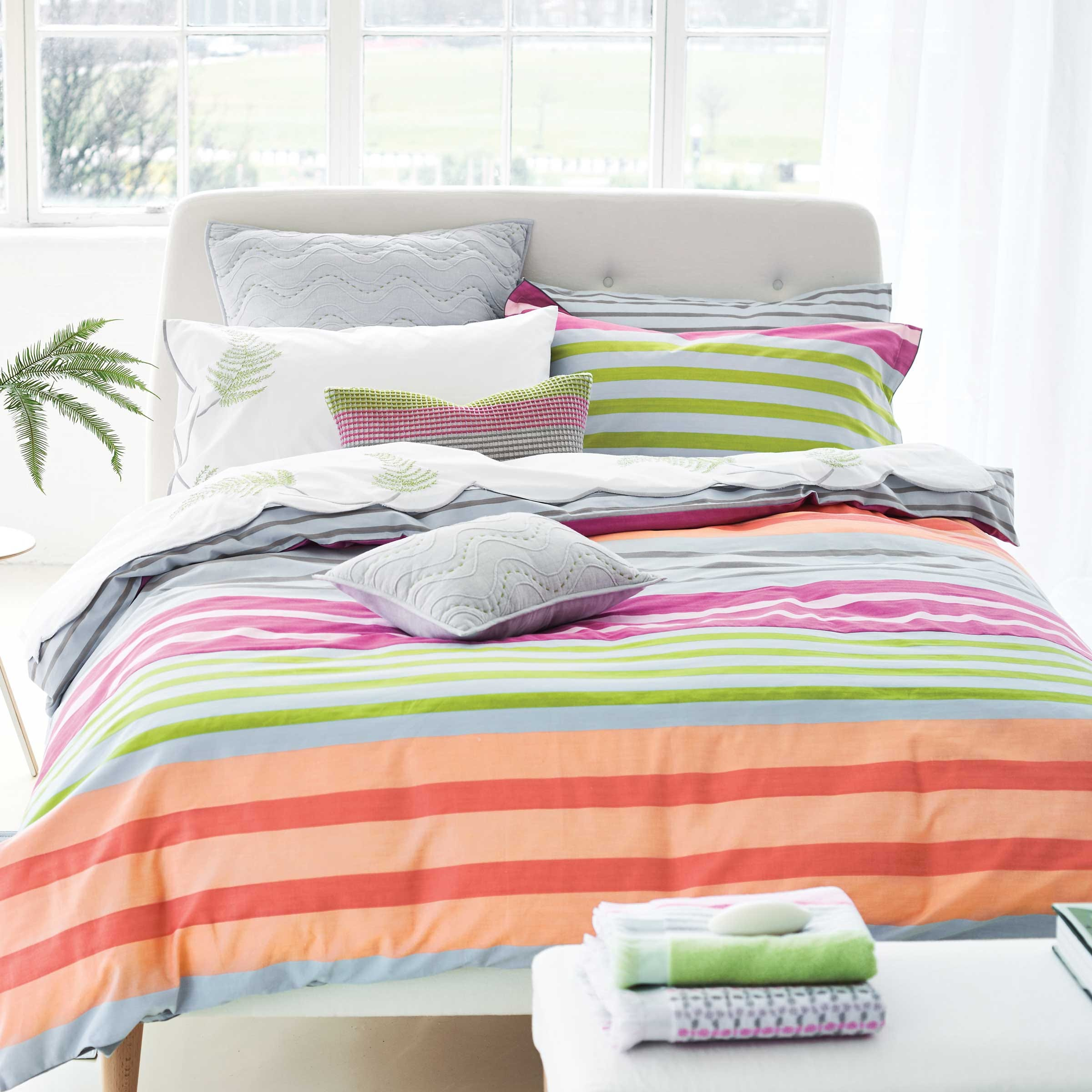 Designers Guild Hiranya Bedding in Graphite