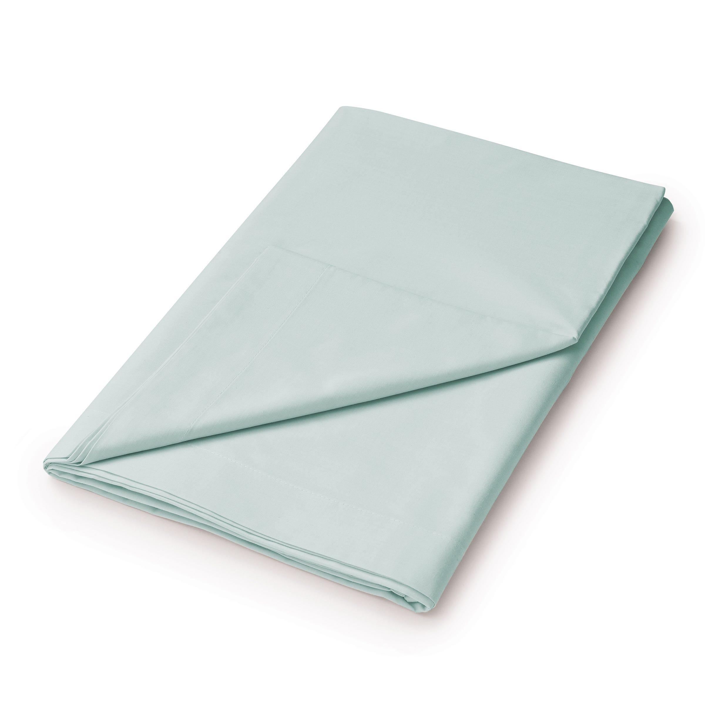 50/50 Plain Dye Percale Super Kingsize Flat Sheet, Aquamarine