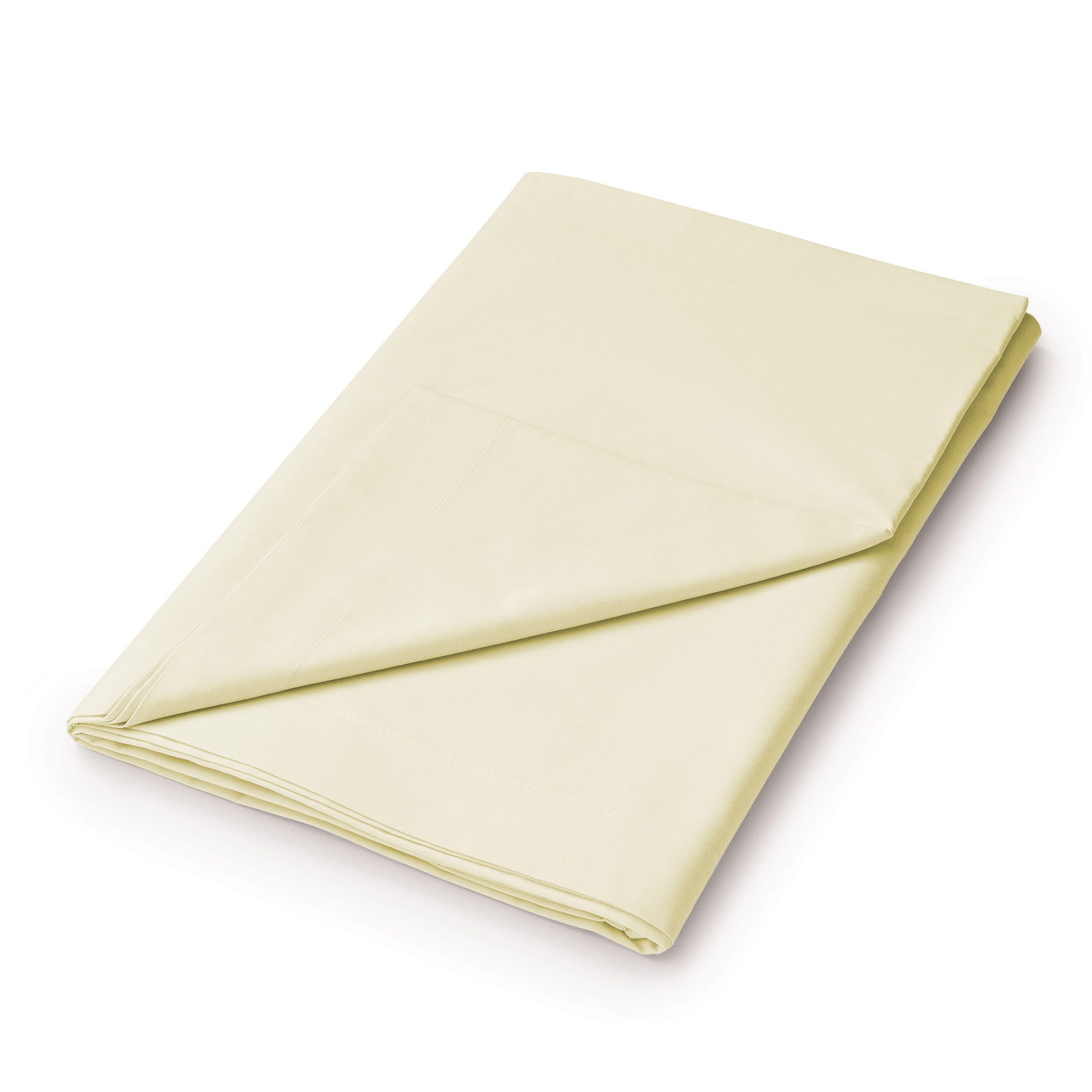 50/50 Plain Dye Percale Super Kingsize Flat Sheet, Citron