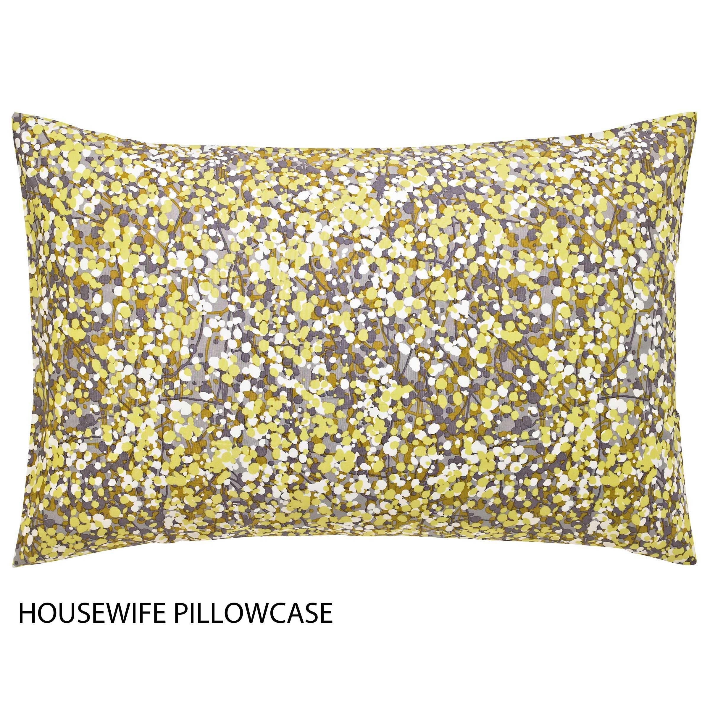 Clarissa Hulsa Boston Ivy Housewife Pillowcase Sulphur