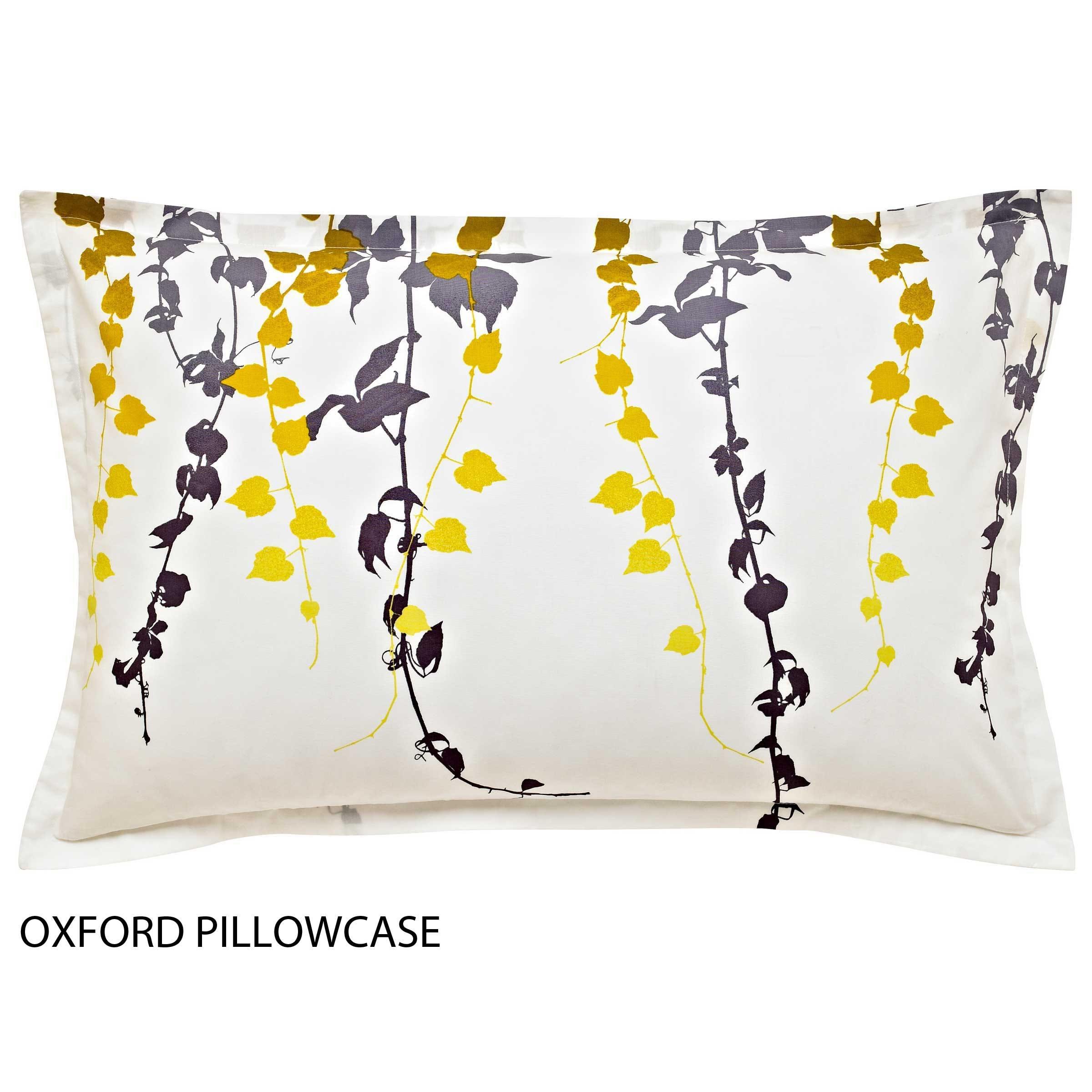 Clarissa Hulsa Boston Ivy Oxford Pillowcase Indigo Sulphur