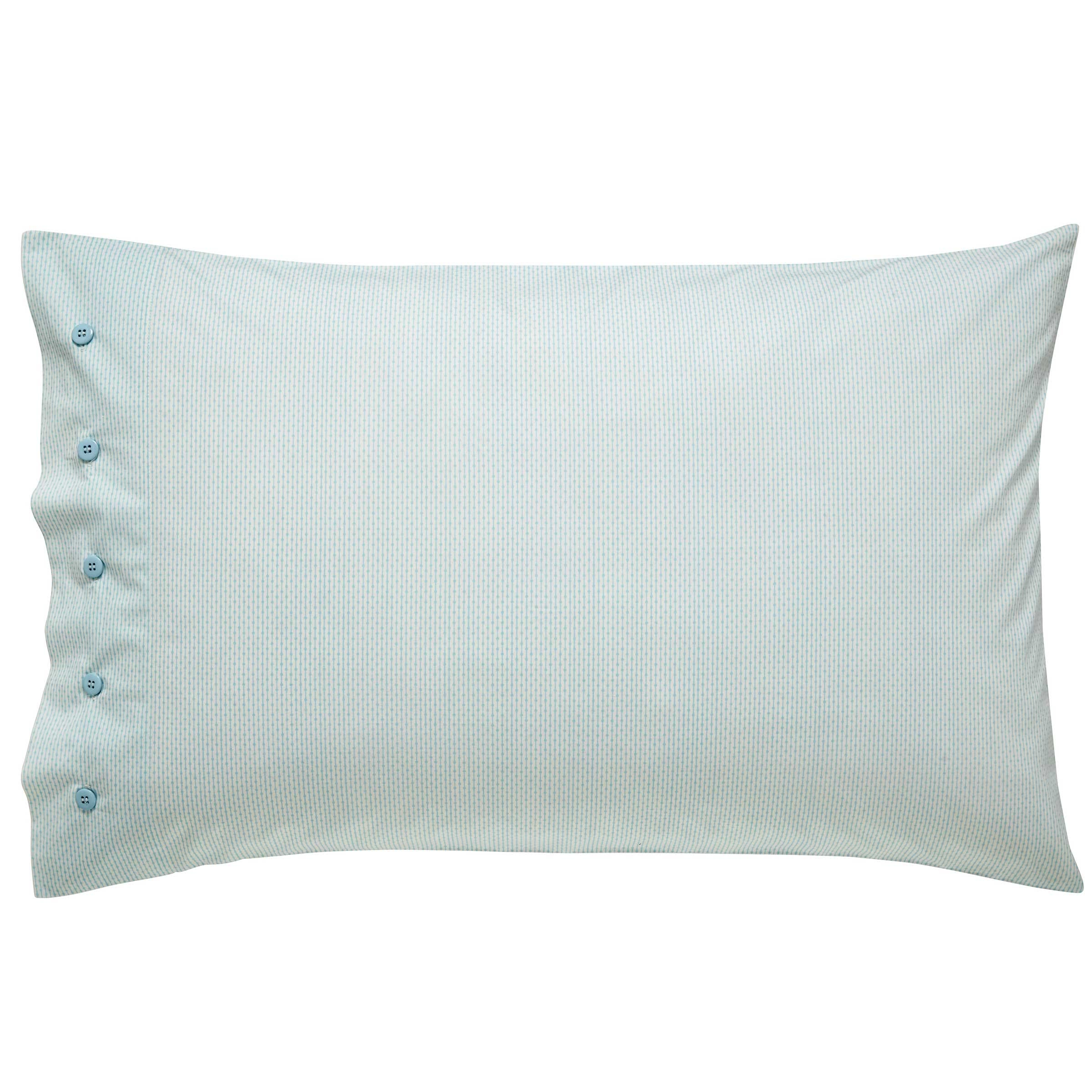 Bedeck 1951 Bedding, Loya Housewife Pillowcase (Mint)
