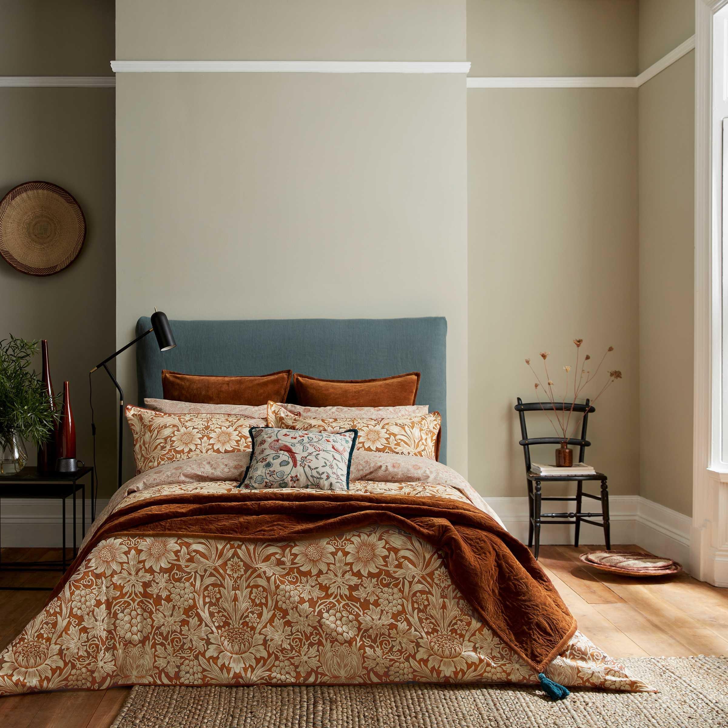 William Morris Sunflower Bedding, Saffron