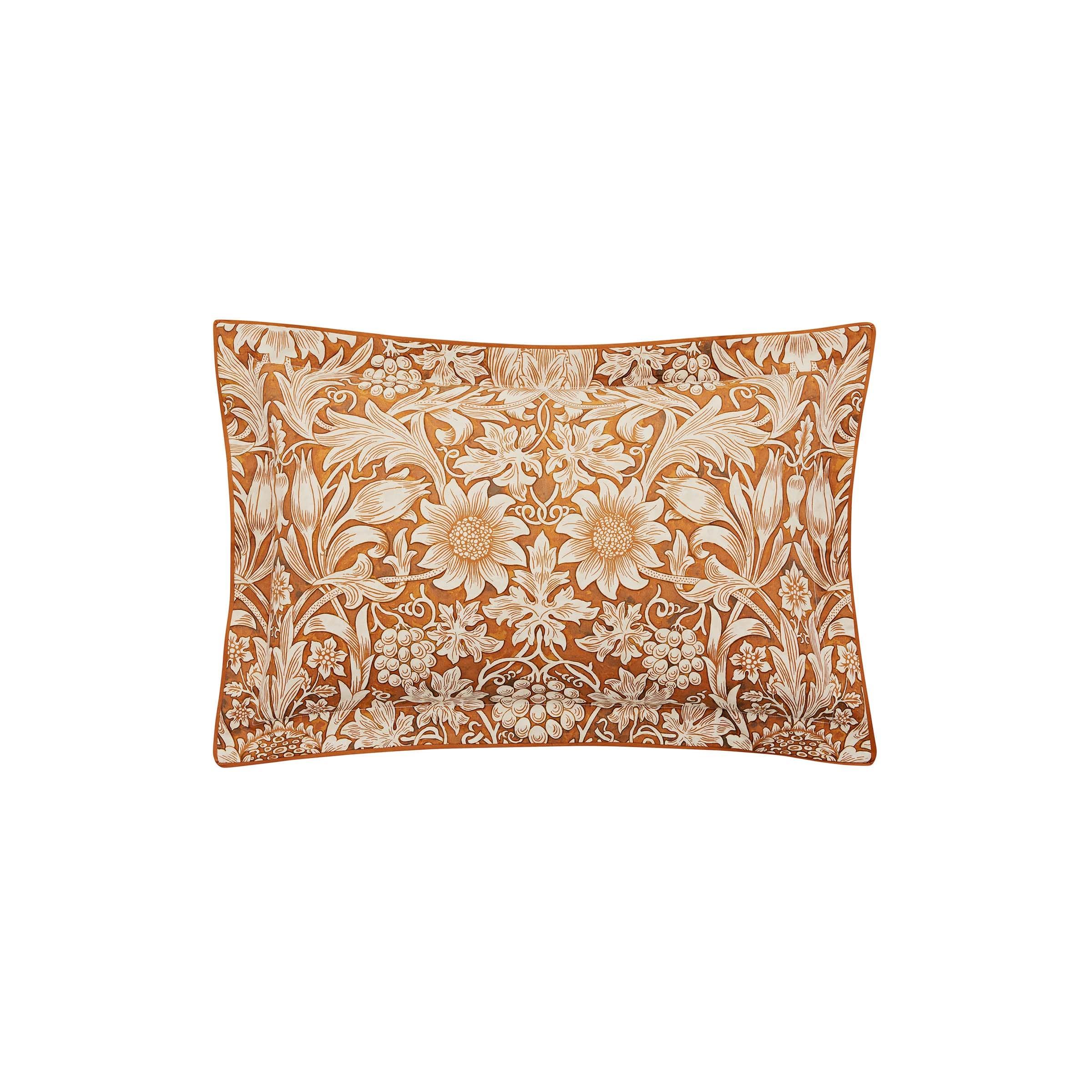 William Morris Sunflower Oxford Pillowcase, Saffron