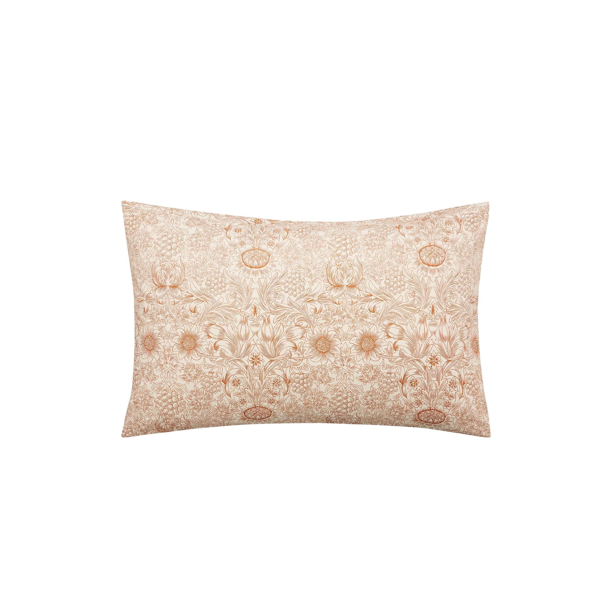 William Morris Sunflower Pair of Housewife Pillowcases, Saffron