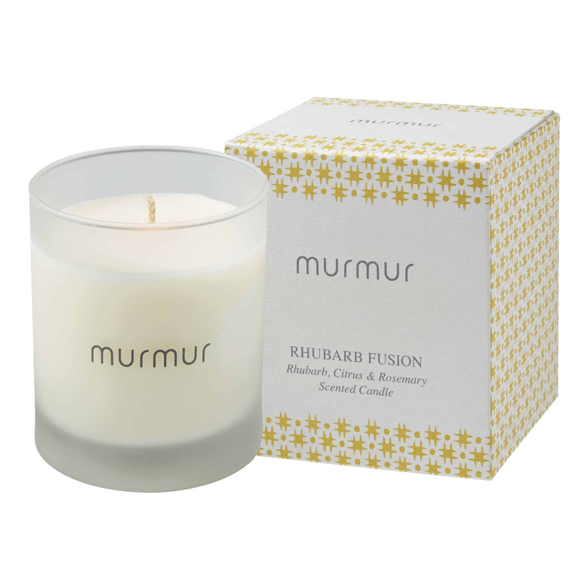 Murmur Rhubarb Fusion Scented Candle (1 wick)