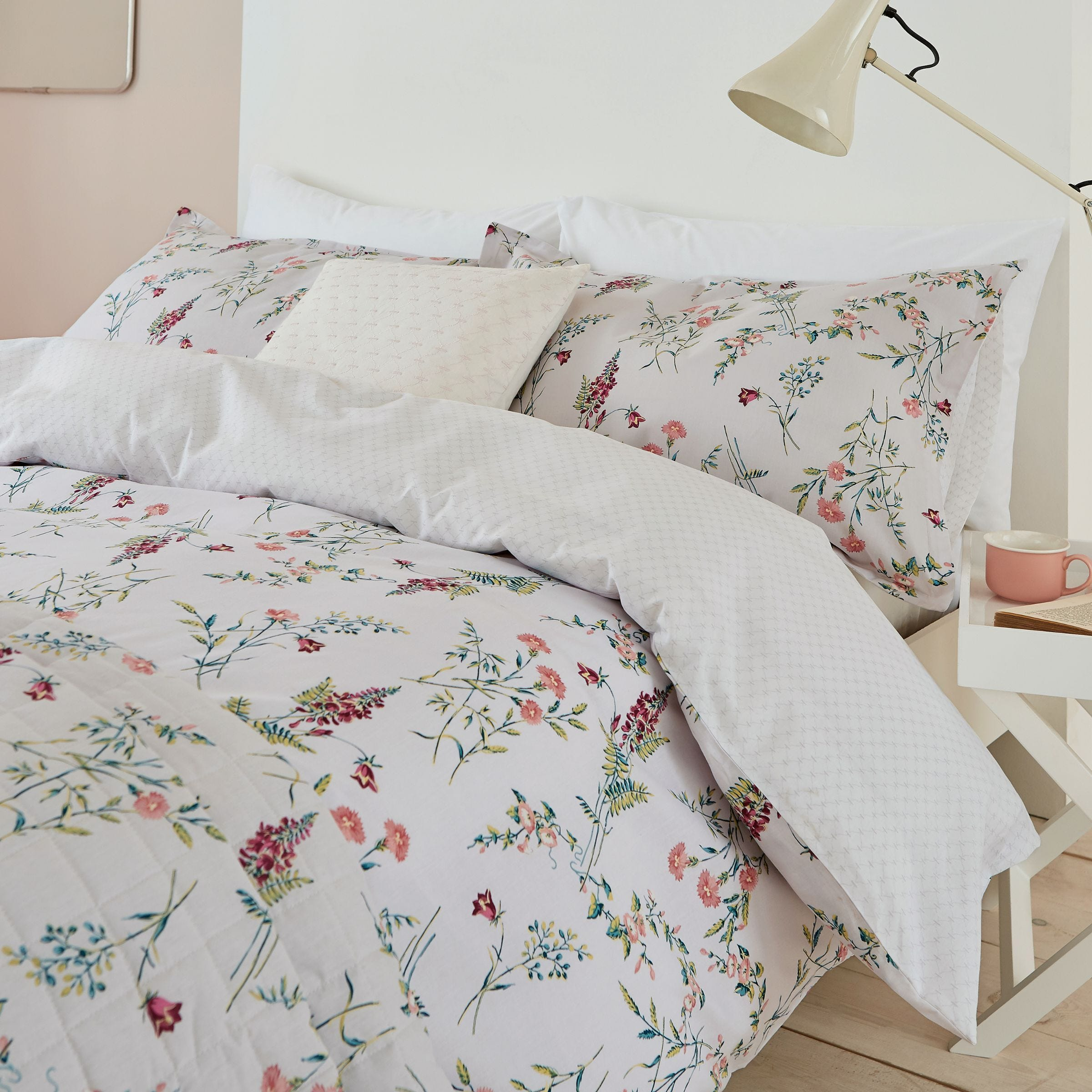 Sanderson Alnwick Gardens Single Duvet Cover Set, Orchid
