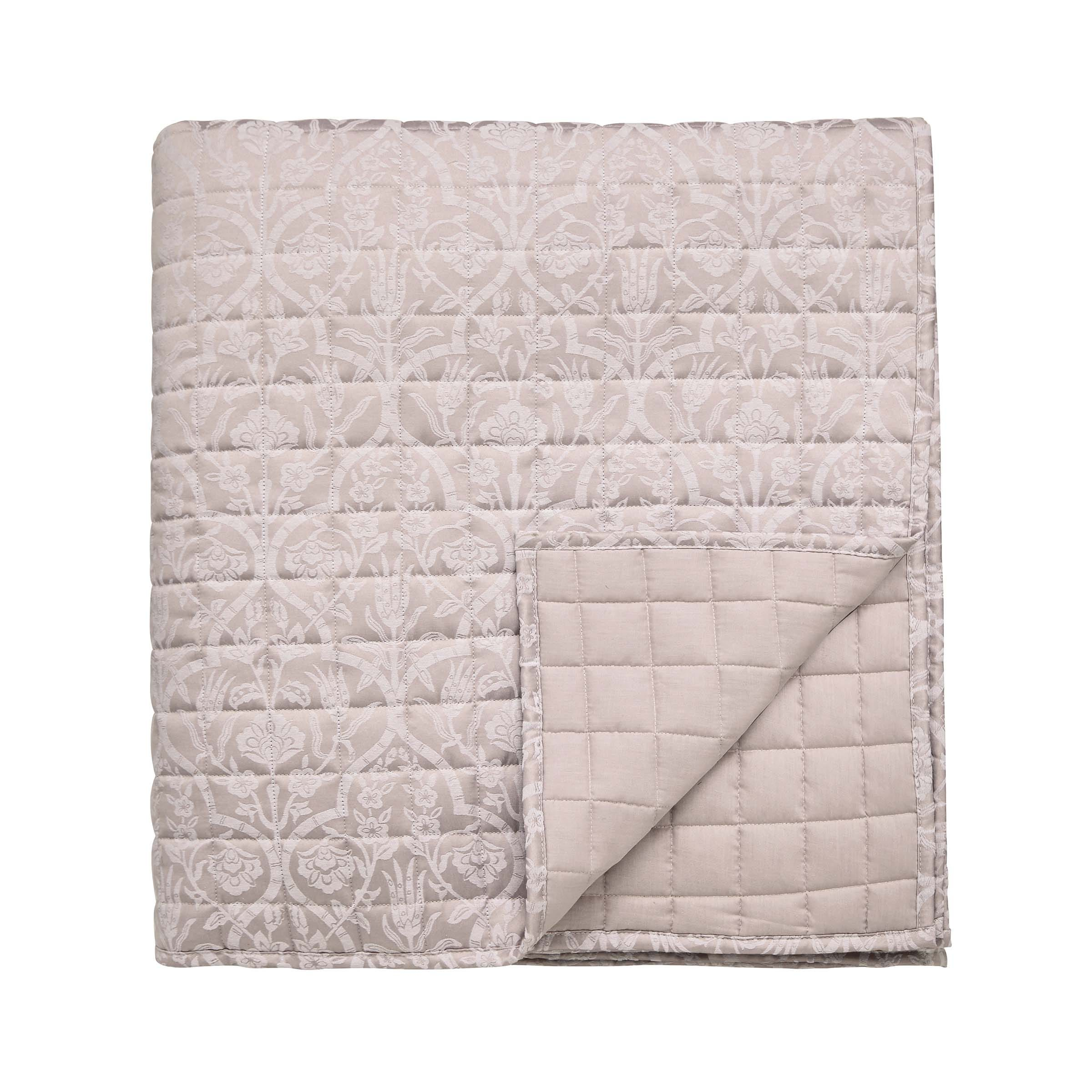 Sanderson Kamala Quilted Throw, Orchid