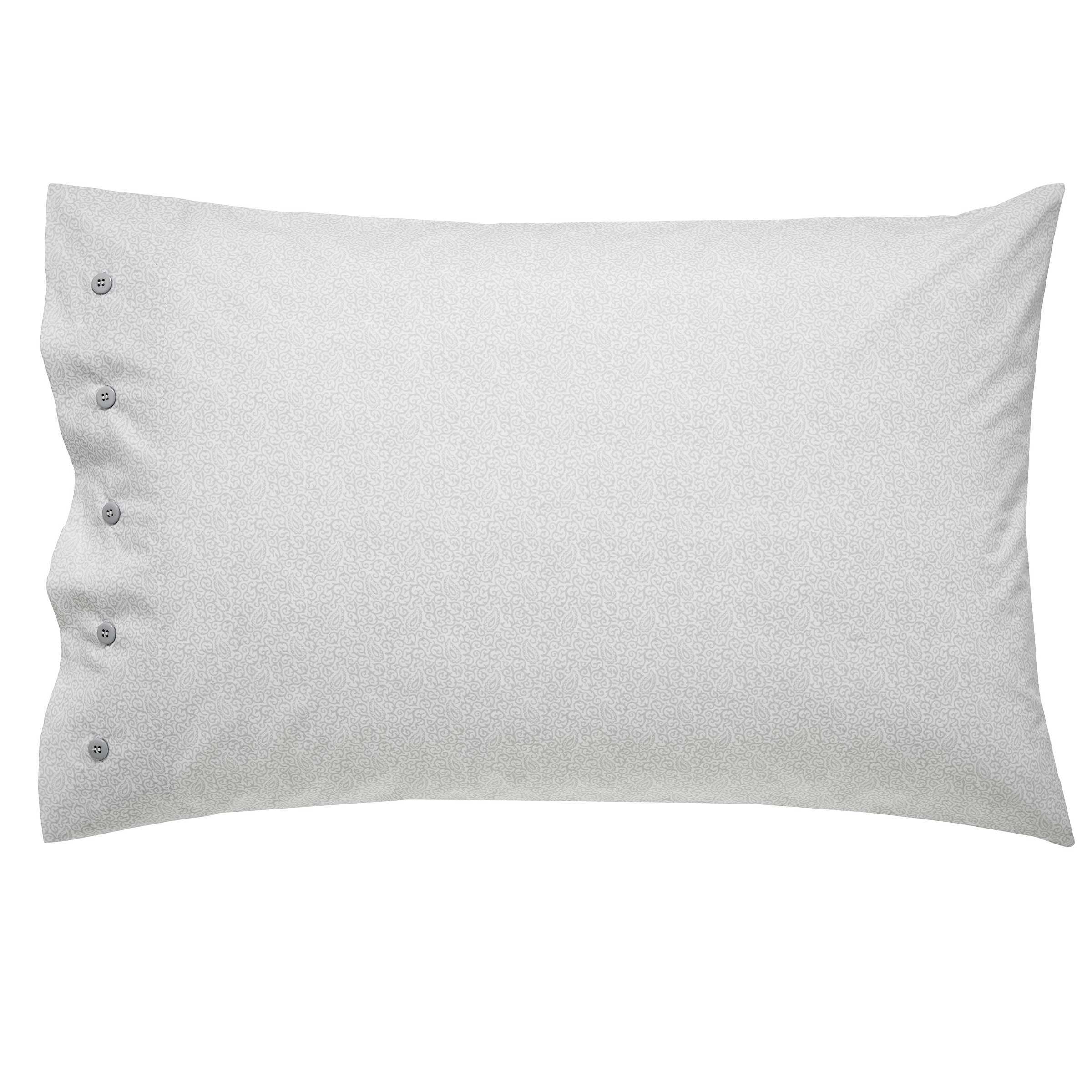 Bedeck 1951 Bedding Senna Housewife Pillowcase Silver