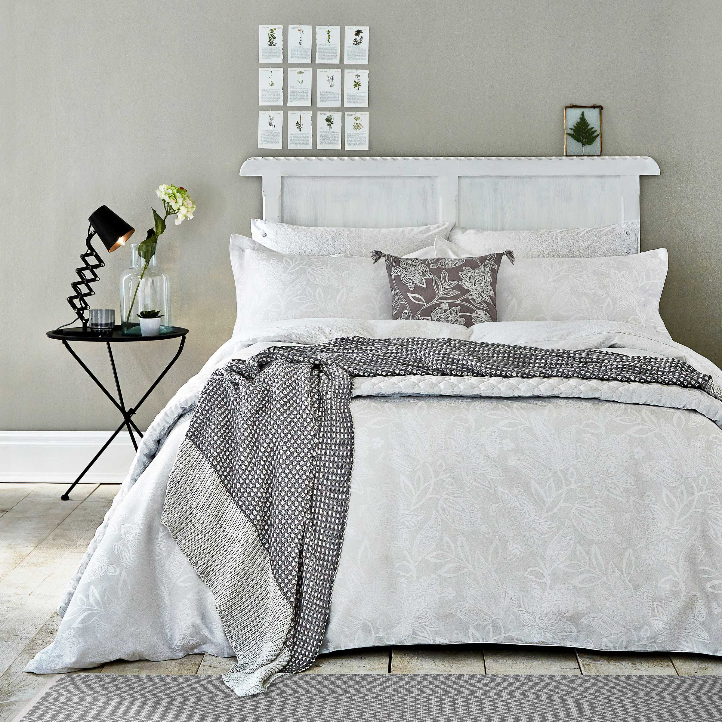Bedeck 1951 Bedding Senna Duvet Cover Single Silver