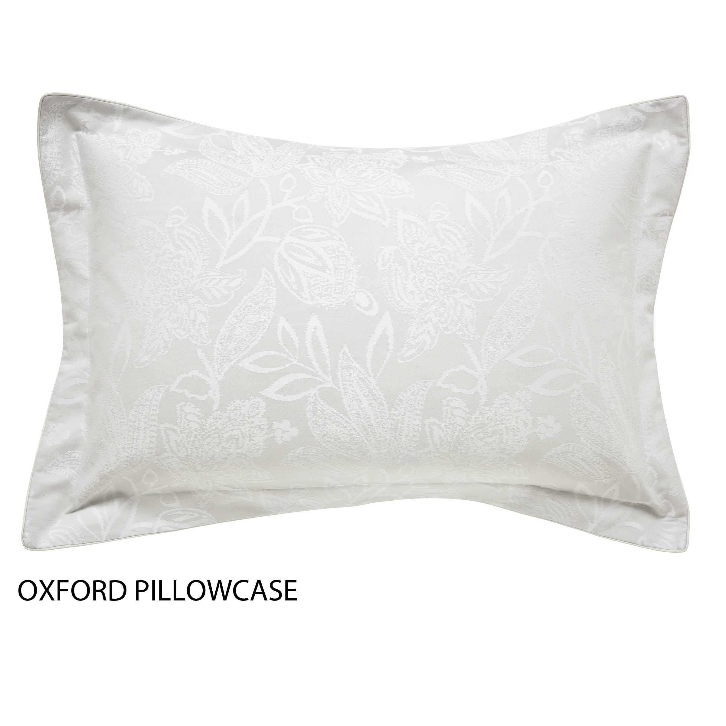 Bedeck 1951 Bedding Senna Oxford Pillowcase Silver