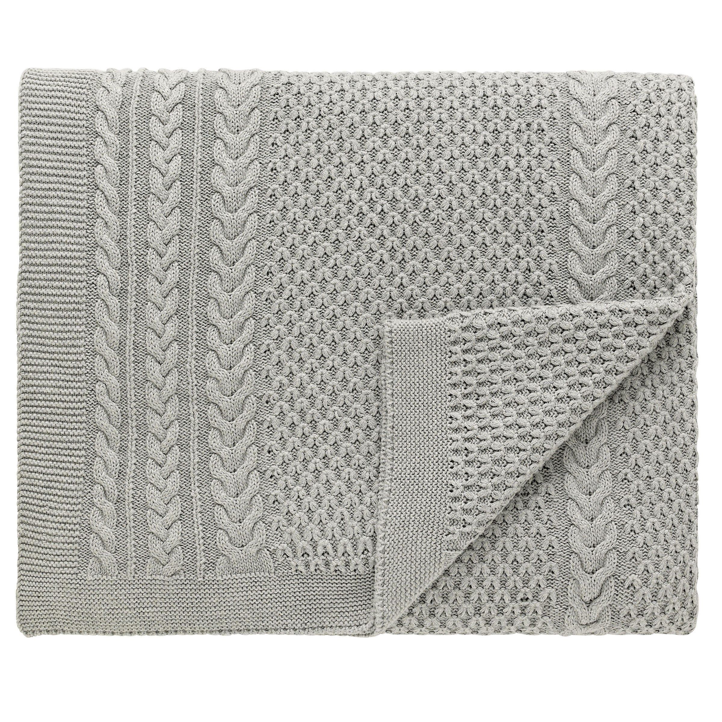 Sanderson Bedding Simi Knitted Throw Grey