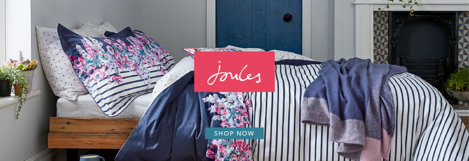 Joules Cottage Garden Border Stripe