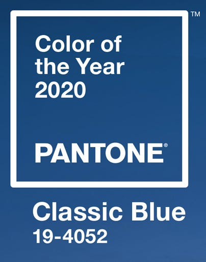 Pantone Colour of the Year 2020