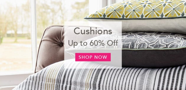 Cushions and Throws Up To 50% Off