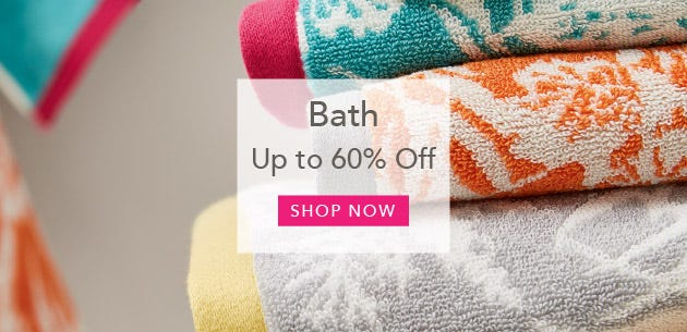 Bath Accessories Up To 60% Off