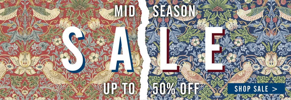Mid Season Sale - up to 50% off!