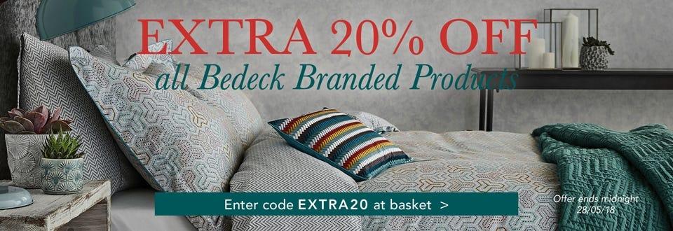 Bedeck Extra 20% OFF Sale